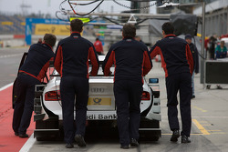 Audi Sport Team Phoenix push the Audi A4 DTM of Alexandre Prémat to technical inspection
