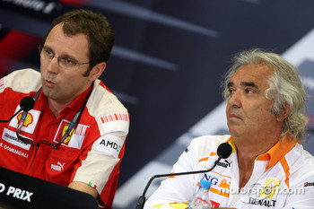 Stefano Domenicali, Scuderia Ferrari, Sporting Director, Flavio Briatore, Renault F1 Team, Team Chief, Managing Director