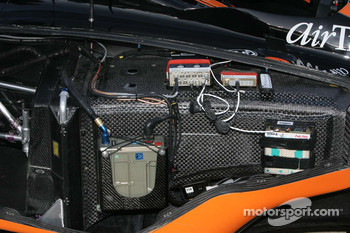 Electical works on the #7 Boost Mobile, Motorola car of Dancia Patrick