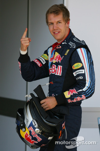 Sebastian Vettel, Red Bull Racing gets pole position