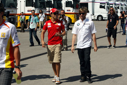 A big meeting of all Team Principles and all F1 drivers is held in the Toyota motorhome: Felipe Massa, Scuderia Ferrari and Nick Heidfeld, BMW Sauber F1 Team