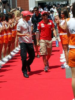 Heikki Kovalainen, McLaren Mercedes and Felipe Massa, Scuderia Ferrari