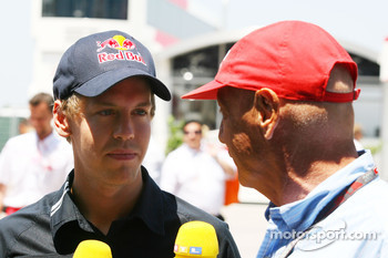 Sebastian Vettel, Red Bull Racing and Niki Lauda