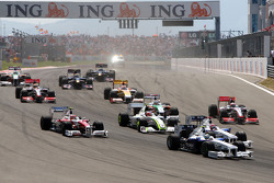 Nick Heidfeld, BMW Sauber F1 Team, Robert Kubica, BMW Sauber F1 Team