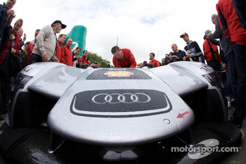 #3 Audi Sport North America Audi R15 TDI arrives at scrutineering