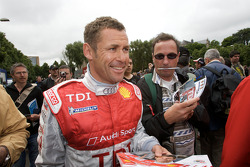 Tom Kristensen arrives at scrutineering
