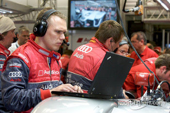 Audi Sport team member at work