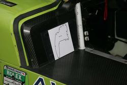 Track map inside the #76 Doran Racing Ford/Dallara