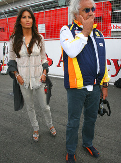 Flavio Briatore, Renault F1 Team, Team Chief, Managing Director Elisabetta Gregoraci, Wife of Flavio Briatore
