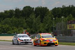 Gabriele Tarquini, Seat Sport, Seat Leon 2.0 TDI and Jorg Muller, BMW Team Germany, BMW 320si