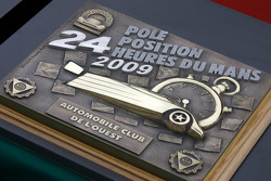 Trophy for the Le Mans 2009 pole position from Automobile Club de L'Ouest