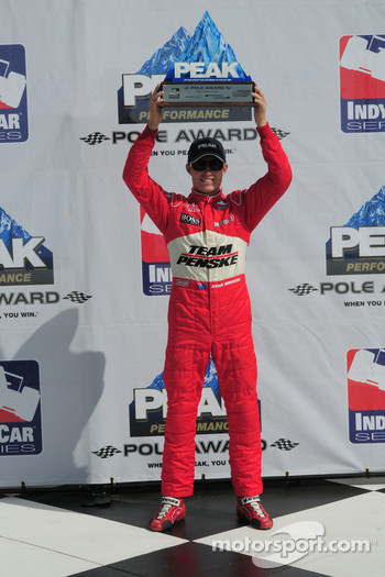 Ryan Briscoe, Team Penske gets the pole award