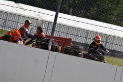Accident with Jolyon Palmer and Ash Davies