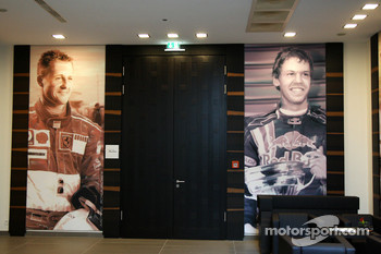 Pictures of Michael Schumacher, Test Driver, Scuderia Ferrari and Sebastian Vettel, Red Bull Racing inside the Lindner hotel, New development and facilities around the Nurburgring
