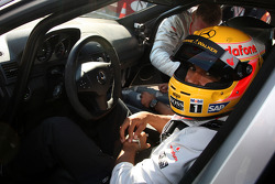 Lewis Hamilton, McLaren Mercedes gives taxi rides