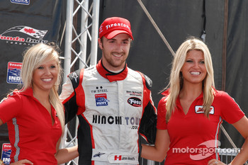 Podium: third place James Hinchcliffe