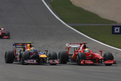 Sebastian Vettel, Red Bull Racing against Felipe Massa, Scuderia Ferrari
