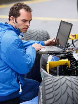 A Super Nova Racing engineer at work