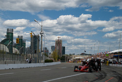 Robert Doornbos, Newman/Haas/Lanigan Racing pushed on pitlane