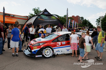 Ford Fiestas on display at the Fanfest in downtown Pikes Peak