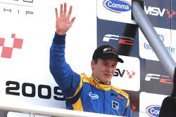 Henry Surtees, on the podium, finished third