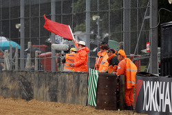 The race was red flagged three times