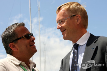Pierre Van Vliet, F1i Magazine chief editor and Ari Vatanen