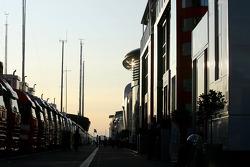 Sunset on the paddock
