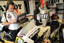 LCR Honda MotoGP team member at work