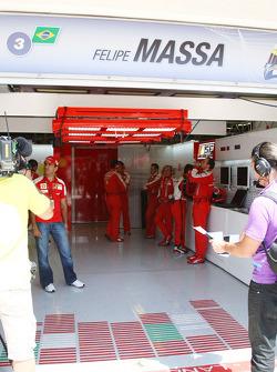 Empty garage of Felipe Massa, Scuderia Ferrari