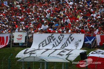 Fans show their support for Felipe Massa