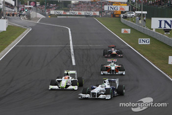 Nick Heidfeld, BMW Sauber F1 Team, Rubens Barrichello, Brawn GP, Giancarlo Fisichella, Force India F1 Team