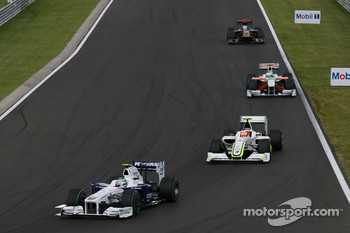 Nick Heidfeld, BMW Sauber F1 Team, Rubens Barrichello, Brawn GP
