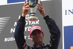 Podium: third place Mark Webber