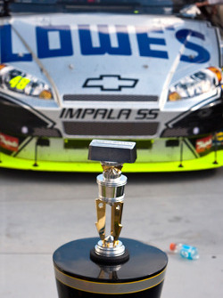 Victorye lane: winning trophy for the Allstate 400 at the Brickyard