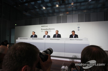 Dr. Norbert Reithofer (chairman of BMW AG), Dr. Klaus Draeger (head of development), Dr. Mario Theissen (BMW Sauber F1 Team, BMW Motorsport Director)
