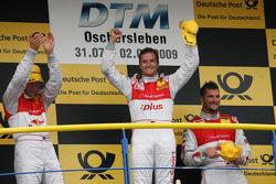 Podium: race winner Timo Scheider, Audi Sport Team Abt Audi A4 DTM, second place Mattias Ekström, Audi Sport Team Abt Audi A4 DTM, third place Martin Tomczyk, Audi Sport Team Abt Audi A4 DTM