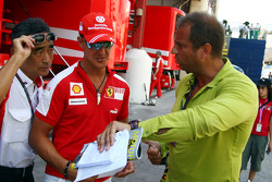 Michael Schumacher, Scuderia Ferrari, meets Kai Ebel shows his new whatch collection