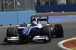 Kazuki Nakajima, Williams F1 Team had a puncture