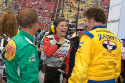 Morgan Shepherd and Boris Said share a laugh with Jamie Little