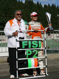 Vijay Mallya Force India F1 Team Owner and Giancarlo Fisichella, Force India F1 Team