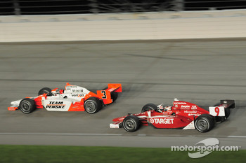 Helio Castroneves, Team Penske and Scott Dixon, Target Chip Ganassi Racing