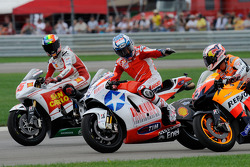Alex De Angelis, San Carlo Honda Gresini, Nicky Hayden, Ducati Marlboro Team, Andrea Dovizioso, Repsol Honda Team