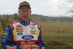 Jarmo Lehtinen start's his 100th WRC event on the 2009 Rally Australia