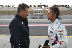 Dr. Mario Theissen, BMW Sauber F1 Team, BMW Motorsport Director and Andy Priaulx, BMW Team UK, BMW 320si