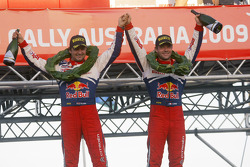 Podium: provisional winners and final second Sébastien Loeb and Daniel Elena