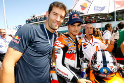 Mark Webber, Red Bull Racing, and Dani Pedrosa, Repsol Honda Team