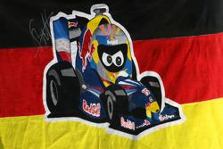 Fan banner for Sebastian Vettel, Red Bull Racing