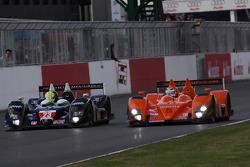 #23 Strakka Racing Ginetta - Zytek: Nick Leventis, Danny Watts, #5 Team LNT Ginetta-Zytek GZ09S: Lawrence Tomlinson, Nigel Mansell, Greg Mansell
