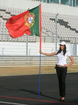Portuguese grid girl